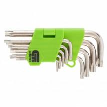 Набор ключей имбусовых Сибртех,Tamper-Torx, 9 шт: ТT10-ТT50,45x (12321)