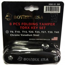 Складной набор ключей шестигранных Bovidix 8 штук 5980108