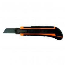 Нож двухкомпонентный с выдвижным лезвием 18 мм ВИХРЬ с автоматическим фиксатором