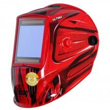 Маска сварочная Fubag ULTIMA 5-13 Panoramic Red (зона обзора 100 мм х 93 мм) (992510)