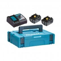 Набор Makita в кейсе: аккумулятор BL1860B 2 шт. + зарядное устройство DC18RC 18V 2x6.0 Ач 198318-0