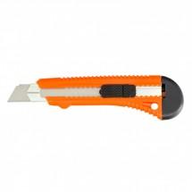 Нож Sparta 18 мм, выдвижное лезвие, металлическая направляющая (78973)