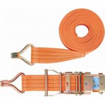 Ремень багажный с крюками Stels 0,05 х 10 м, храповой механизм Россия (54387)
