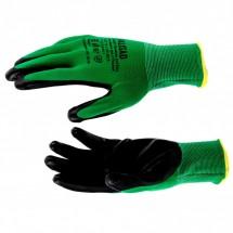 Перчатки полиэфирные с чёрным нитрильным покрытием Palisad, размер L, 15 класс вязки (67865)