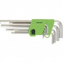 Набор ключей имбусовых Сибртех HEX, 1,5-10 мм, 45x, 9 шт. (12318)