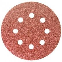"""Круг абразивный на ворсовой подложке под """"липучку"""", перфорированный, Сибртех P 40, 125 мм, 5 шт (738027)"""